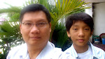 With my son Anthony