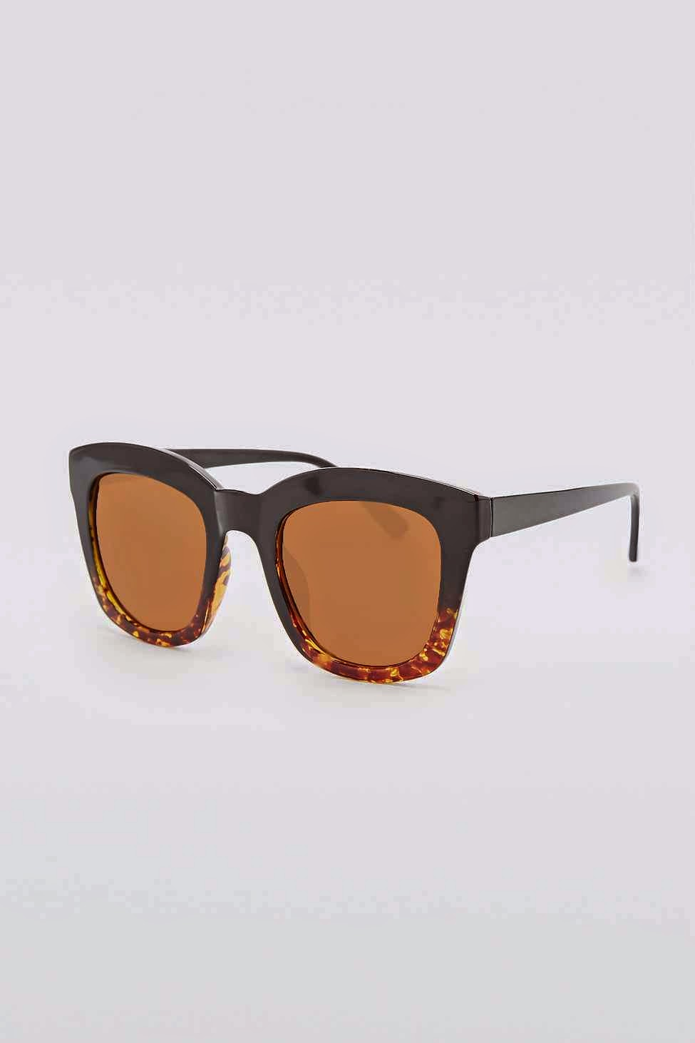 dipped sunglasses, grey and tortoiseshell sunglasses, urban outfitters tortoise shell sunglasses,