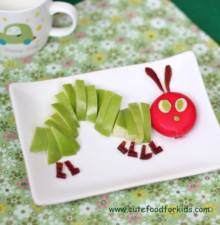 Cute food for kids 22 the very hungry caterpillar for Fun kid food crafts