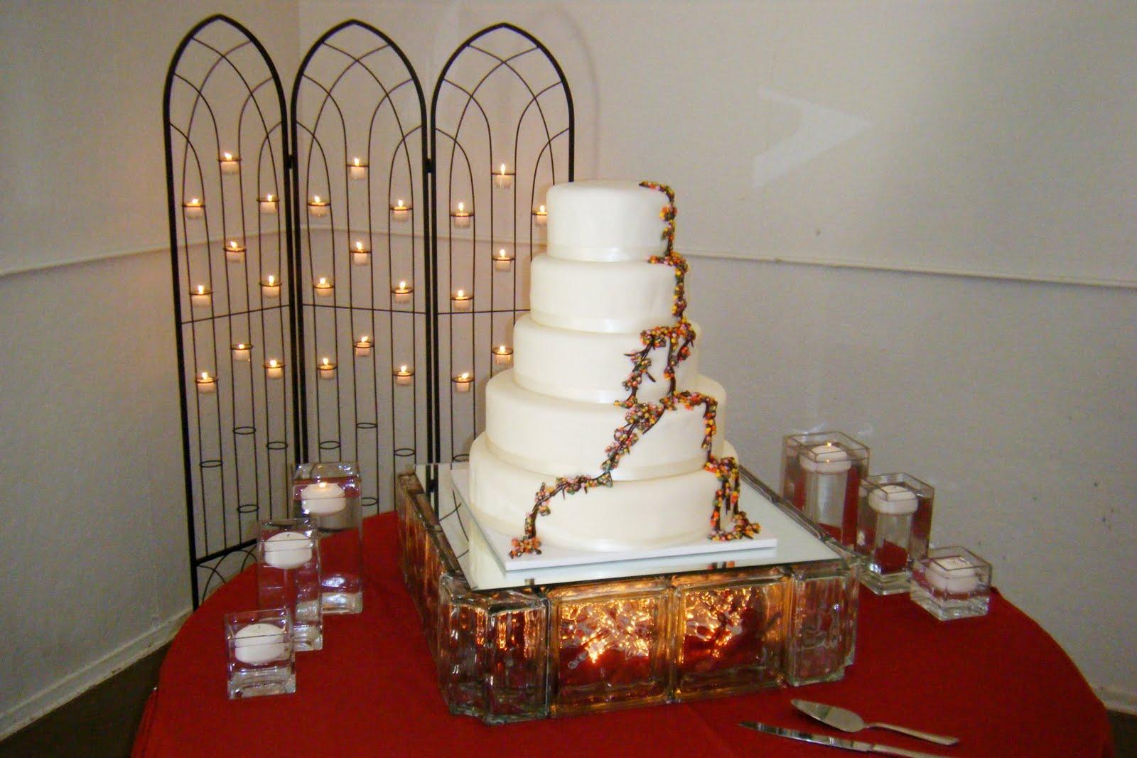 Rental Highlight Lighted Glass Block Cake Stands Elite