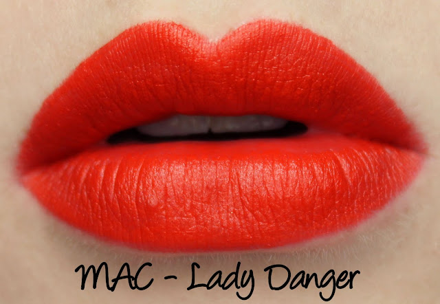 MAC Enchanted Eve - Coral Lip Palette Lady Danger Swatches & Review