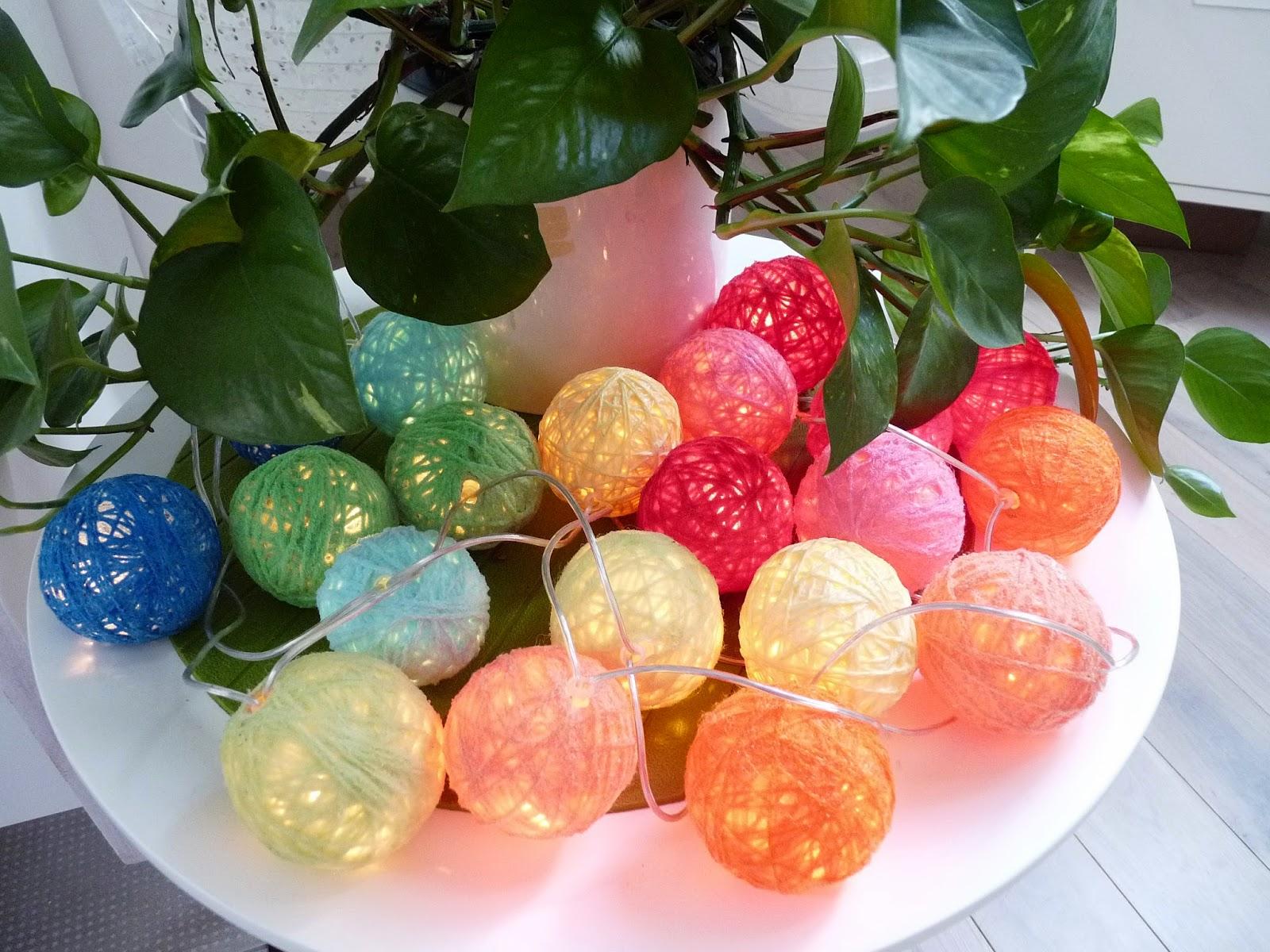 Rue rivoirette diy guirlande lumineuse - Guirlande lumineuse boule coton ...