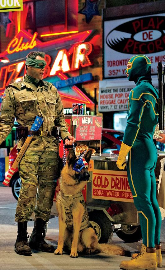 Jim Carrey y Aaron Johnson en Kick-Ass 2