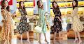 Half Sleeve Floral Chiffon Midi Dress