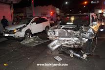 CONSUL DE NICARAGUA PROVOCA ACCIDENTE AUTOMOVILISTICO EN DONDE RESULTARON DOS PERSONAS HERIDAS.