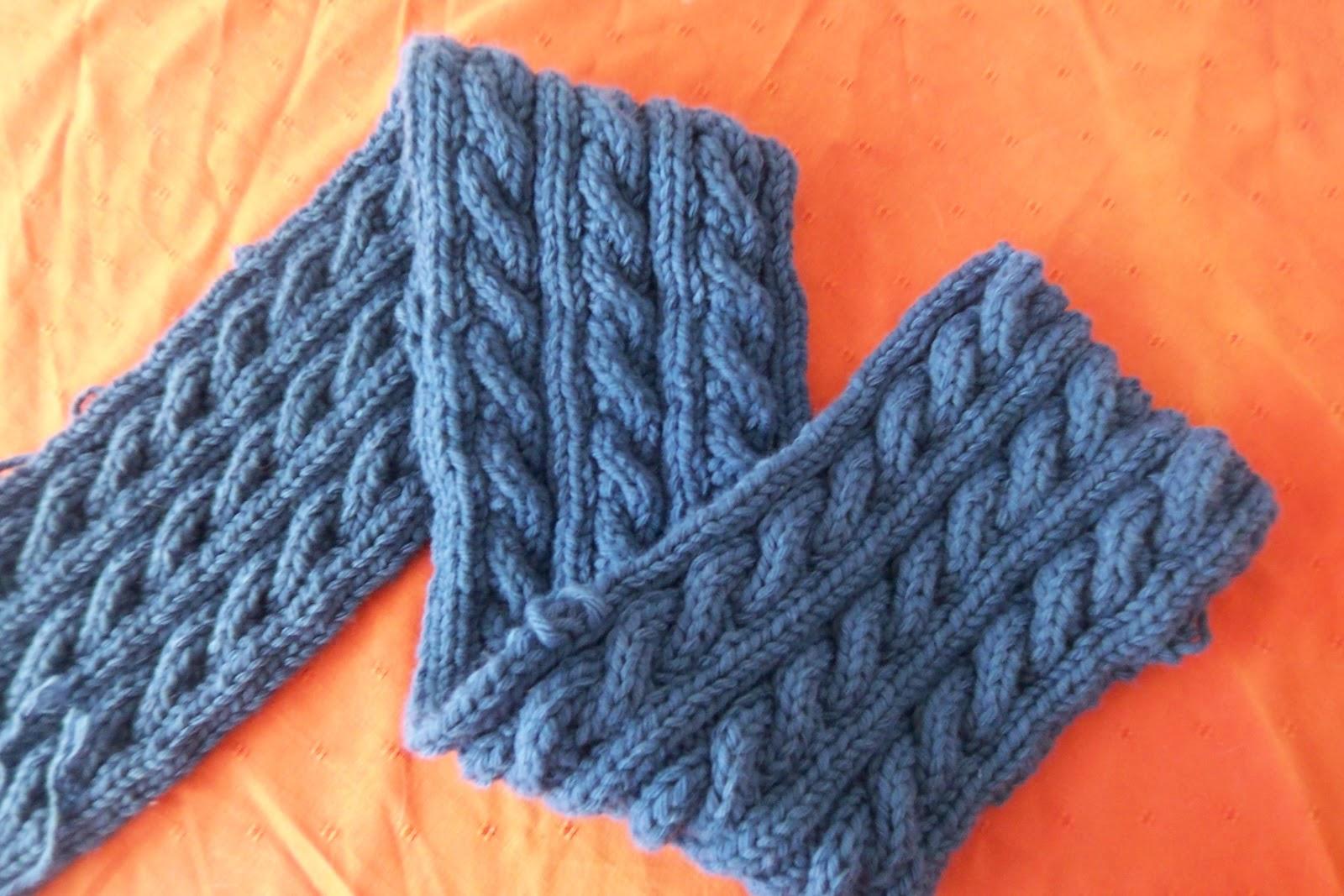 modele tricot echarpe torsade reversible
