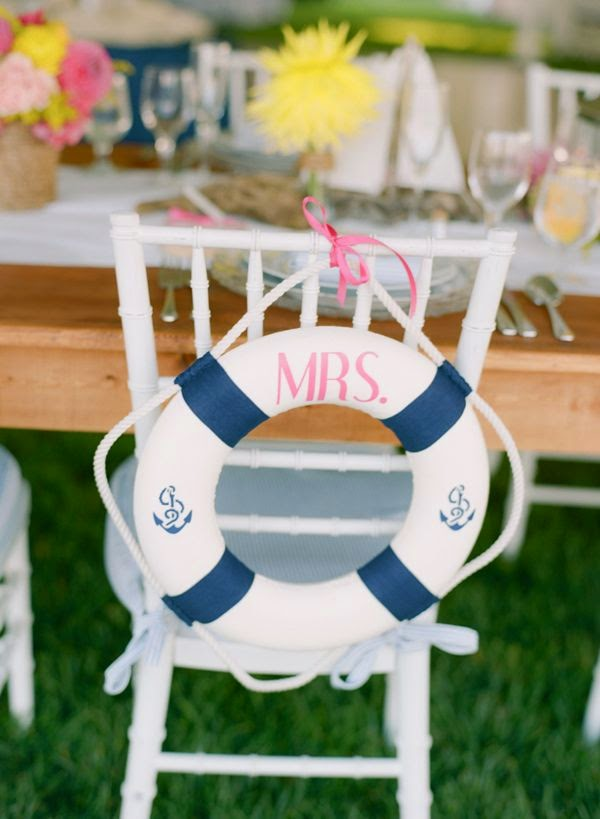 lifesaver wedding decor