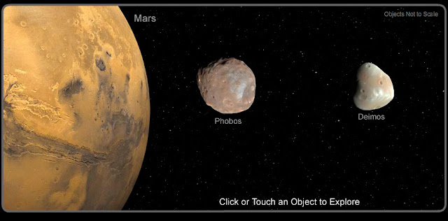 Mars Two Moons Images Phobos and Deimos