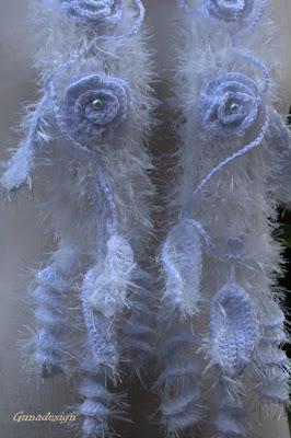 gunadesign guna andersone white crochet scarf fringes