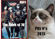 Grumpy cat meets Kiss