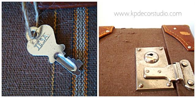 Maletas antiguas con llave original