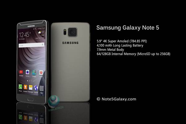 Spesification and price Samsung Galaxy Note 5