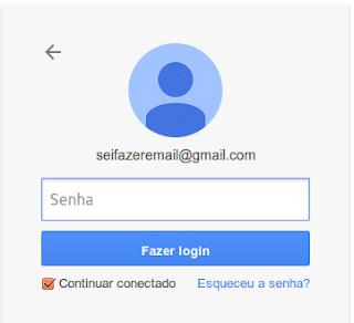 Senha para fazer login e enviar e-mail do Gmail