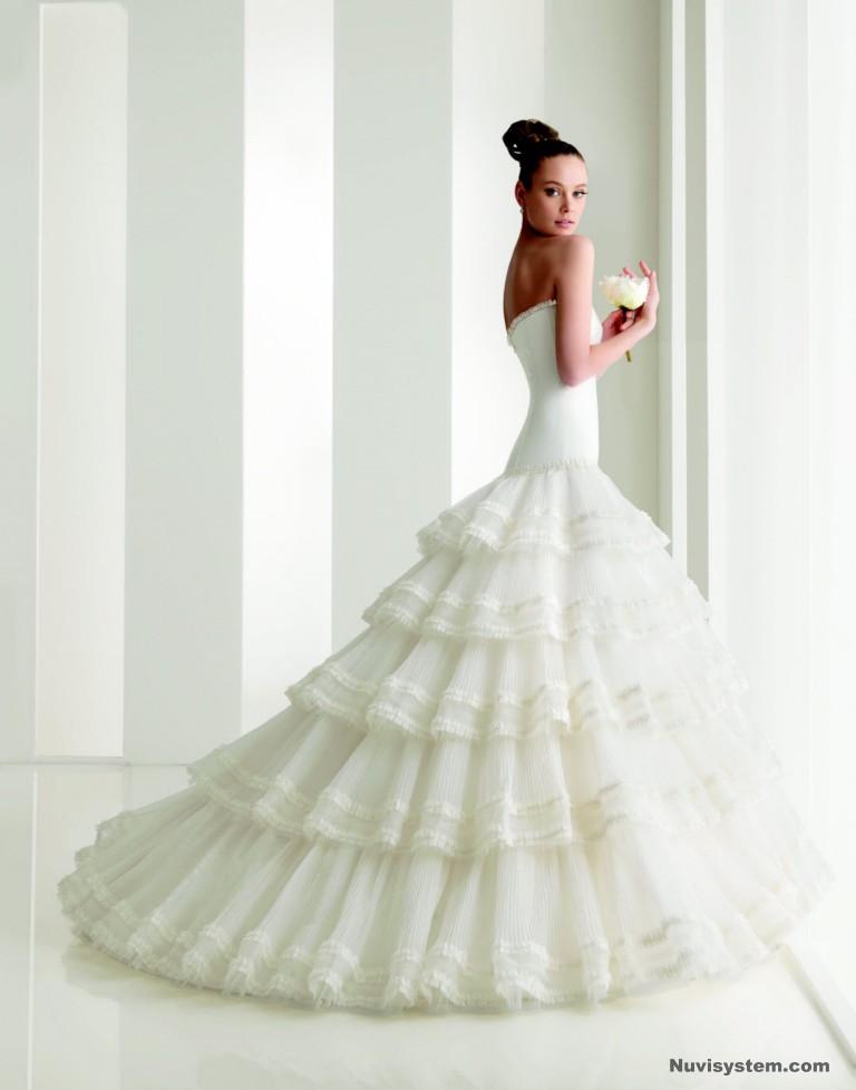 colección de vestidos de novia rosa clara - moda-para-ellas