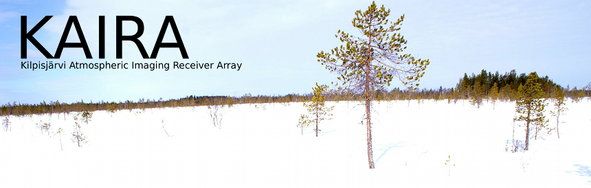 Kilpisjärvi Atmospheric Imaging Receiver Array