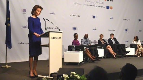 Queen Mathilde attends the meeting of European Development Days