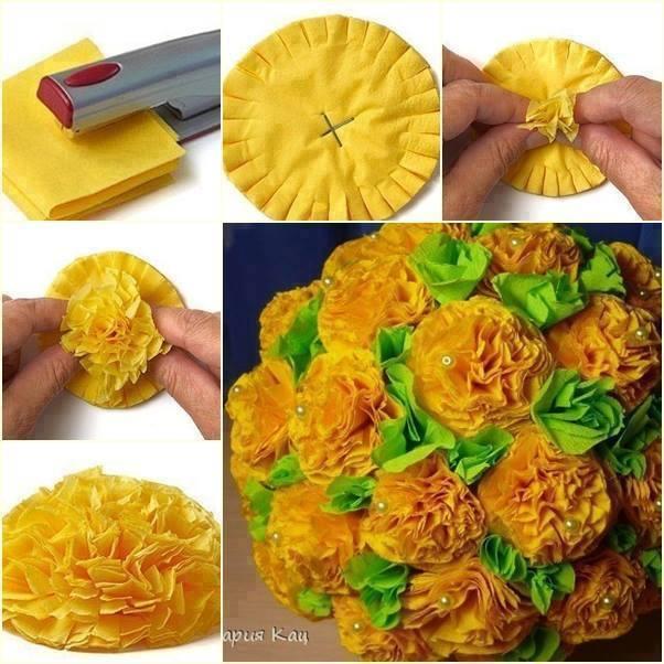 Как сделать красивый цветочек из гофрированной бумаги