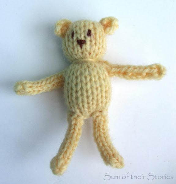Tiny knitted Teddy