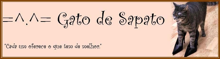 =^.^=  Gato de Sapato