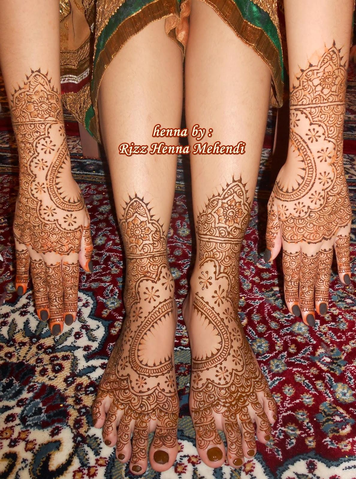 Rizz Henna Mehendi Jakarta Short Design Wedding Henna