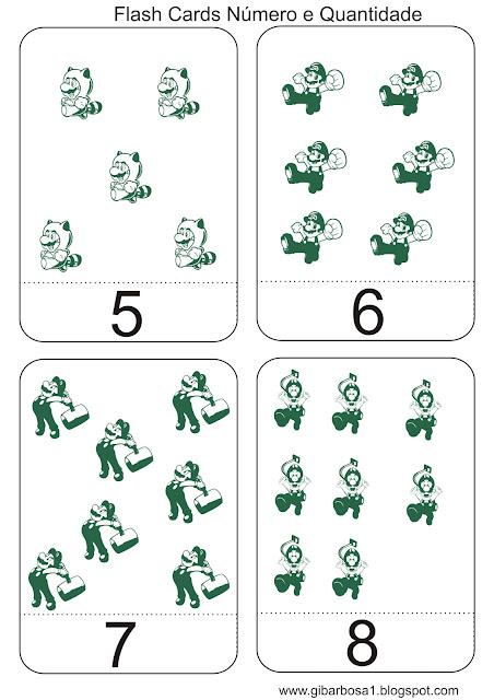 Jogo Pedagógico Super Mário Número e Quantidade