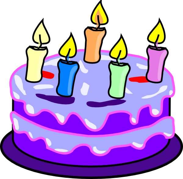 Birthday Cake Clip Art Purple :   Gifs y Fondos Paz enla Tormenta  : DIBUJOS DE TORTAS DE ...