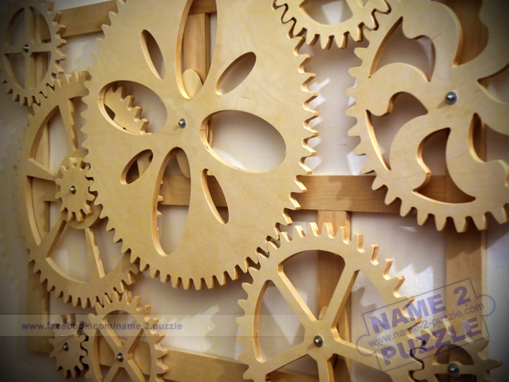 Unique Personalized Gifts: wooden gears wall decor