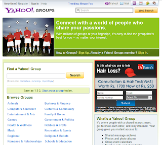 yahoo groups homepage