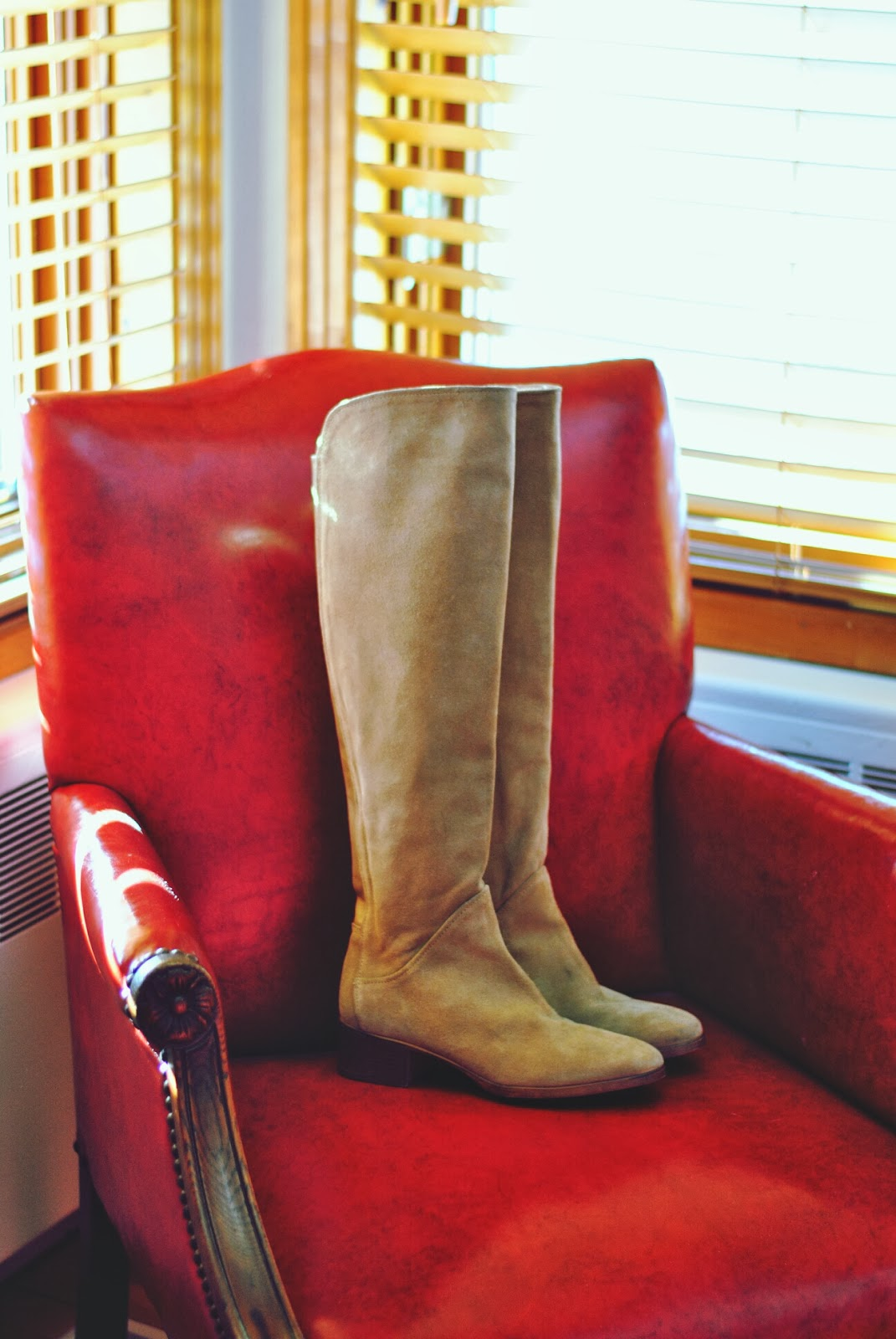 zara beige suede over-the-knee boots fall winter fashion