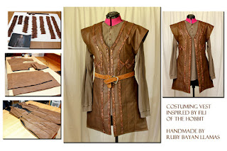 Costuming Vest inspired by Fili of The Hobbit