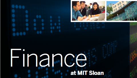 Finance at MIT Sloan