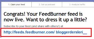 Blogger Feed Burner RSS  Oluşturmak