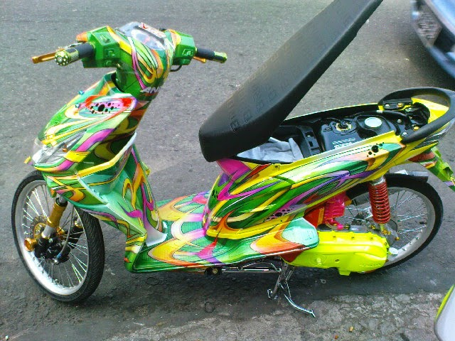 motor modifikasi beat sederhana