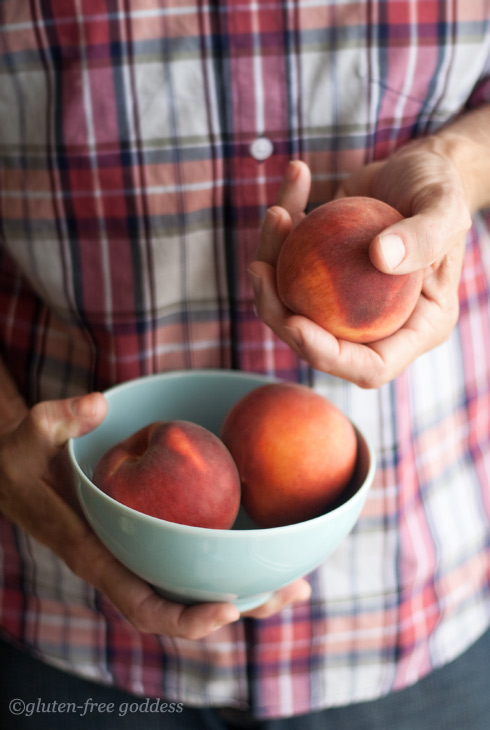 Gluten-free peaches, peach crisp recipe