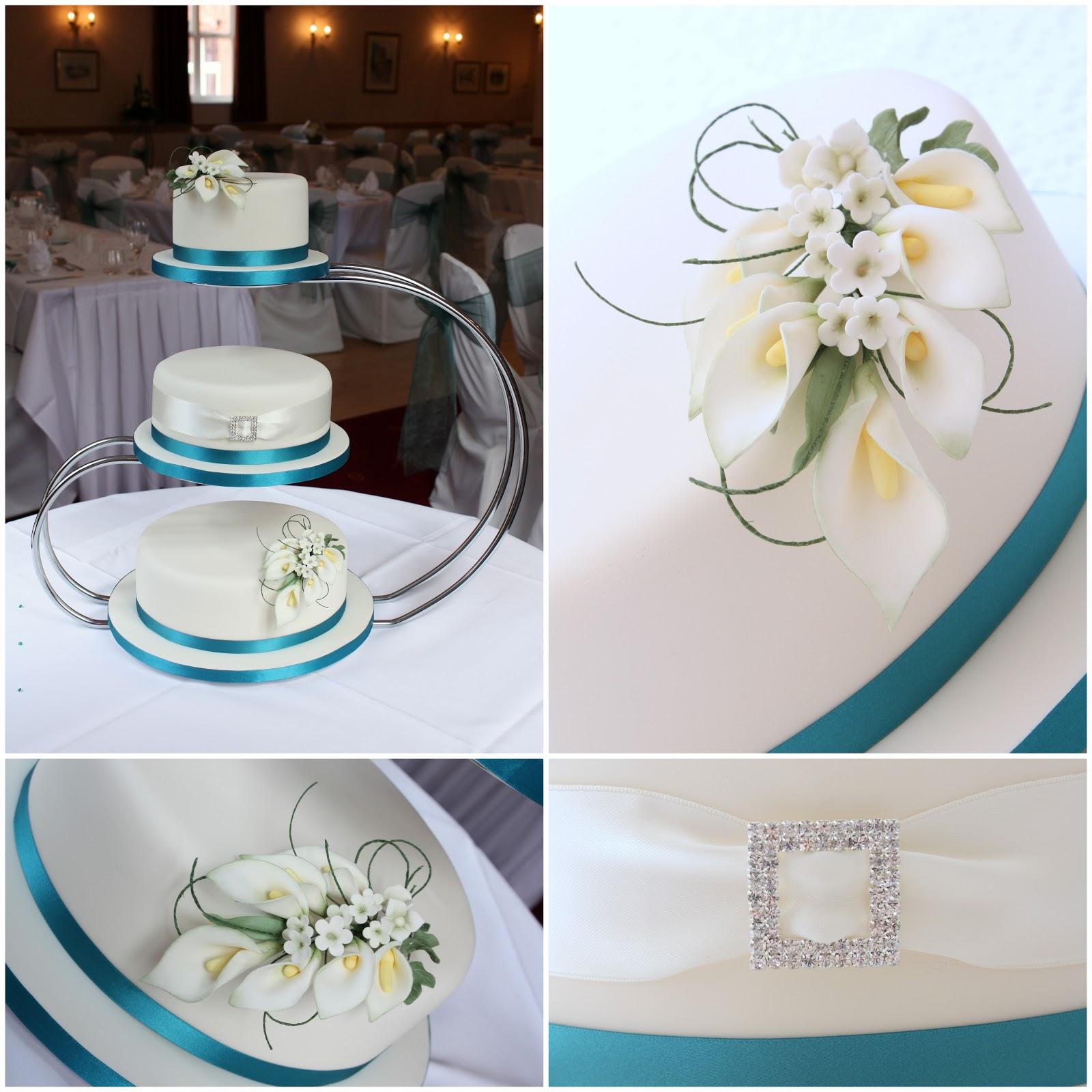 Tiers Tiaras Calla Lily Wedding Cake - Calla Lilly Wedding Cake