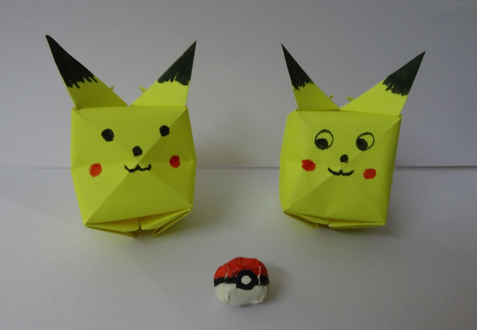Origami Pikachu Tutorial  Cute Origami Pokemon!  Paper
