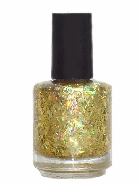 Gold Glitter Nail Polish By Glitter Lambs Cosmetics- Indie Nail Polish ...