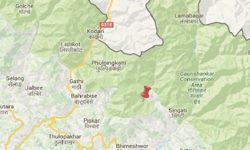 dolakha-earthquake-map