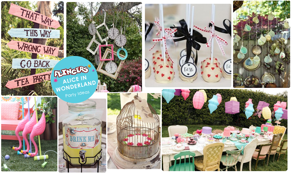 Flingers party shop blog alice in wonderland tea party ideas - Alice in wonderland tea party decorations ...