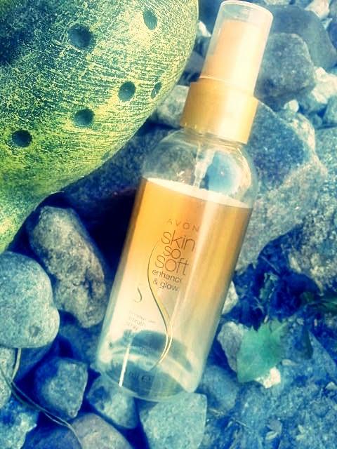 Avon Skin So Soft- rozświetlający balsam opalający w sprayu