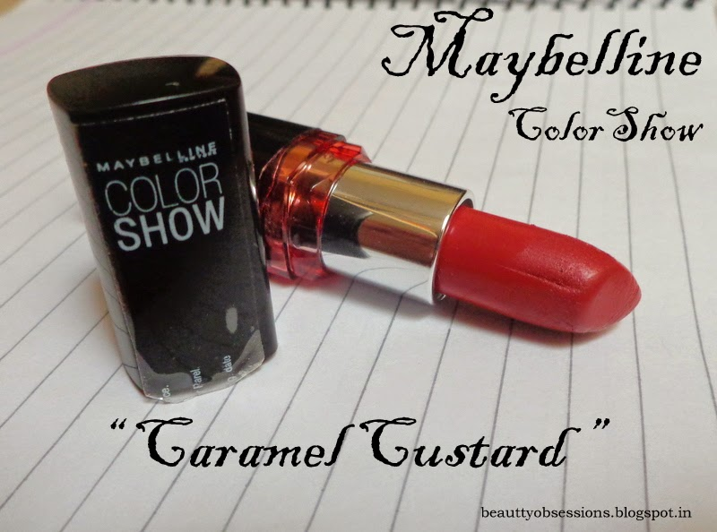 "Maybelline Colorshow Lipstick ""309 Caramel Custard"" Review"