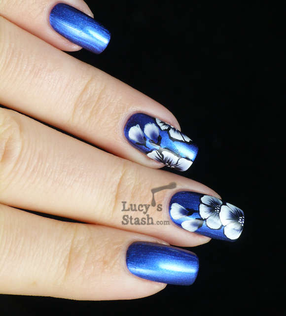 Lucy's Stash - One stroke flowers nail art