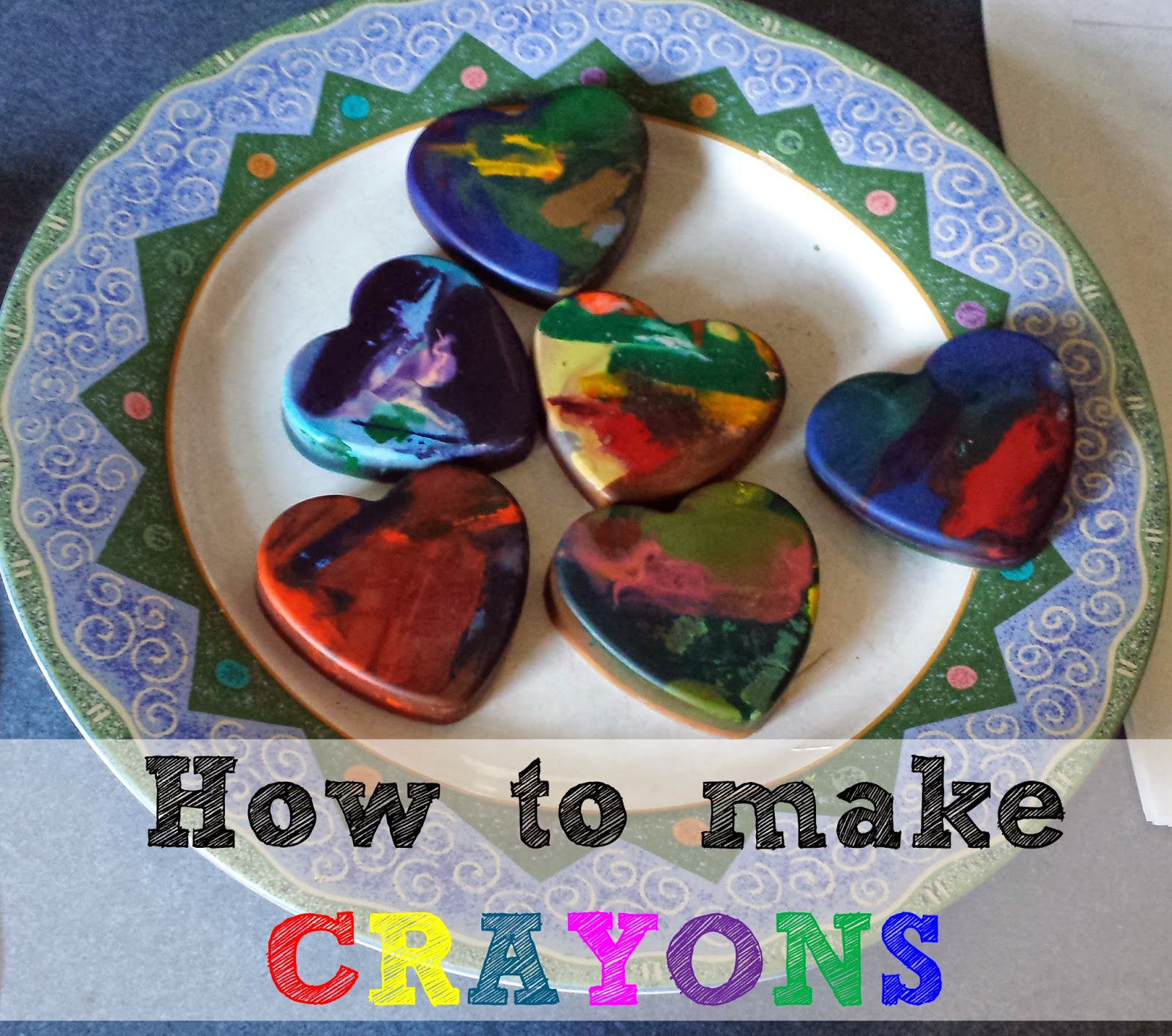 How to make crayons shapes
