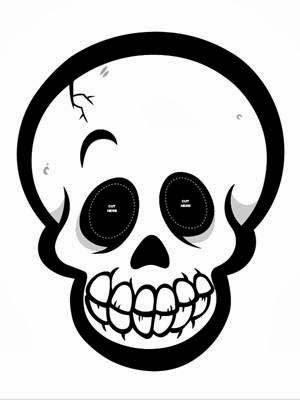 early play templates: Halloween skull masks