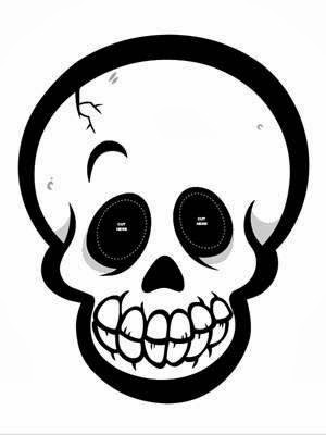 free Halloween skull mask