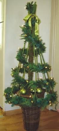 A mi manera idea para hacer un rbol de navidad - Hacer arbol de navidad original ...