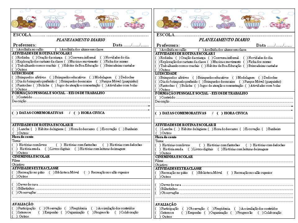Modelo De Planejamento Di  Rio  Para O Caderno De Plano Di  Rio