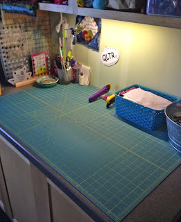Cleared quilting cutting table