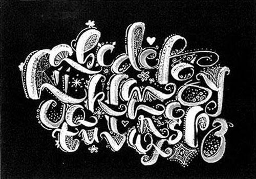 letters of alphabet in cursive. cursive calligraphy alphabet
