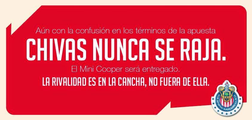 ''Chivas no se raja''.